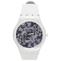 Nature Collage Print  Plastic Sport Watch (medium)