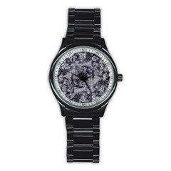 Nature Collage Print  Sport Metal Watch (black) by dflcprints