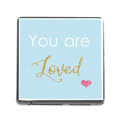 You Are Loved Memory Card Reader With Storage (square) by Kathrinlegg