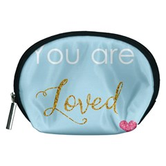 You Are Loved Accessory Pouch (medium) by Kathrinlegg