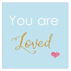 You Are Loved Large Satin Scarf (square) by Kathrinlegg