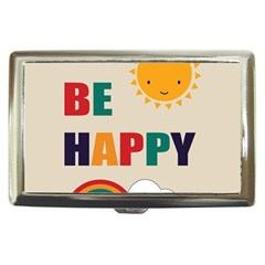 Be Happy Cigarette Money Case by Kathrinlegg
