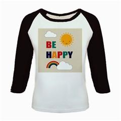 Be Happy Kids Long Cap Sleeve T Shirt by Kathrinlegg