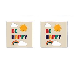 Be Happy Cufflinks (square) by Kathrinlegg