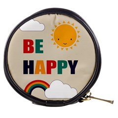 Be Happy Mini Makeup Case by Kathrinlegg