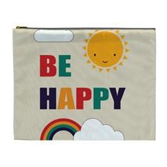Be Happy Cosmetic Bag (xl) by Kathrinlegg