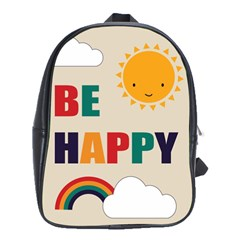 Be Happy School Bag (large) by Kathrinlegg