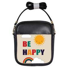 Be Happy Girl s Sling Bag by Kathrinlegg