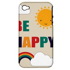 Be Happy Apple Iphone 4/4s Hardshell Case (pc+silicone) by Kathrinlegg