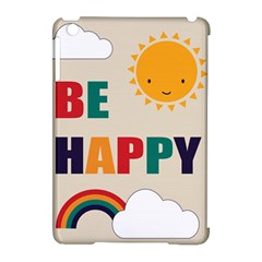Be Happy Apple Ipad Mini Hardshell Case (compatible With Smart Cover) by Kathrinlegg