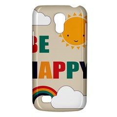 Be Happy Samsung Galaxy S4 Mini (gt I9190) Hardshell Case  by Kathrinlegg