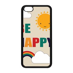 Be Happy Apple Iphone 5c Seamless Case (black) by Kathrinlegg