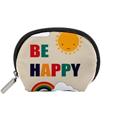 Be Happy Accessory Pouch (small) by Kathrinlegg
