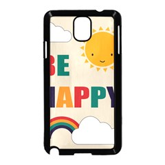 Be Happy Samsung Galaxy Note 3 Neo Hardshell Case (black) by Kathrinlegg