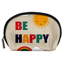 Be Happy Accessory Pouch (large) by Kathrinlegg