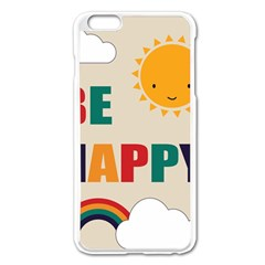 Be Happy Apple Iphone 6 Plus Enamel White Case by Kathrinlegg