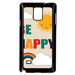 Be Happy Samsung Galaxy Note 4 Case (black) by Kathrinlegg