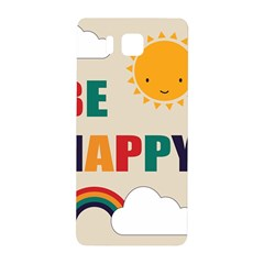 Be Happy Samsung Galaxy Alpha Hardshell Back Case by Kathrinlegg