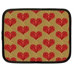 Sparkle Heart  Netbook Sleeve (large) by Kathrinlegg