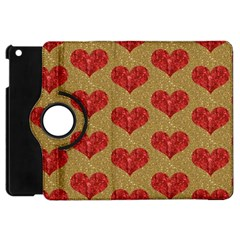 Sparkle Heart  Apple Ipad Mini Flip 360 Case by Kathrinlegg
