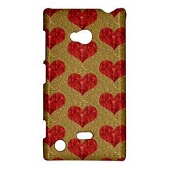 Sparkle Heart  Nokia Lumia 720 Hardshell Case by Kathrinlegg