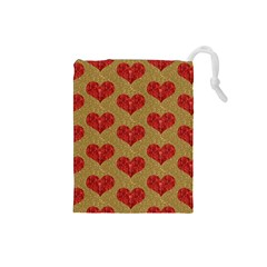 Sparkle Heart  Drawstring Pouch (small) by Kathrinlegg
