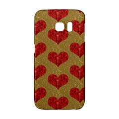 Sparkle Heart  Samsung Galaxy S6 Edge Hardshell Case by Kathrinlegg