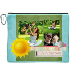 Summer By Summer Time    Canvas Cosmetic Bag (xxxl)   Dsk843msween   Www Artscow Com Front