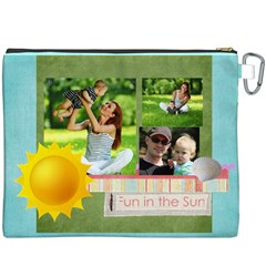 Summer By Summer Time    Canvas Cosmetic Bag (xxxl)   Dsk843msween   Www Artscow Com Back