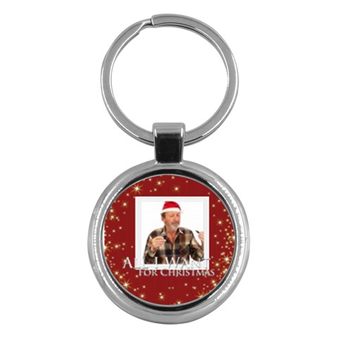 Xmas By May   Key Chain (round)   Eysx8gs1wfop   Www Artscow Com Front