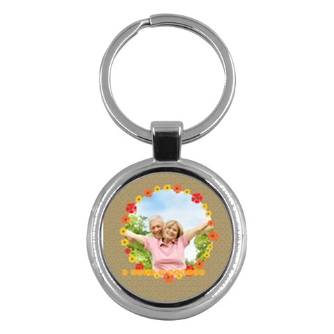 Xmas By May   Key Chain (round)   Ga4ipcq4v6a8   Www Artscow Com Front