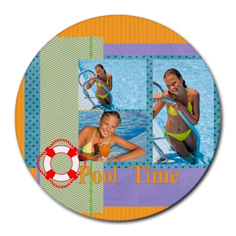 Summer By Summer Time    Round Mousepad   Hl25zrhqswsd   Www Artscow Com Front