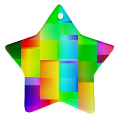 Colorful Gradient Shapes Ornament (star) by LalyLauraFLM