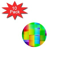 Colorful Gradient Shapes 1  Mini Button (10 Pack)  by LalyLauraFLM