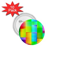 Colorful Gradient Shapes 1 75  Button (10 Pack)  by LalyLauraFLM