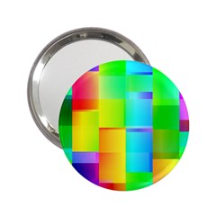 Colorful Gradient Shapes 2 25  Handbag Mirror by LalyLauraFLM