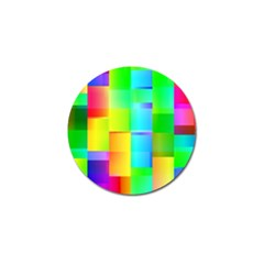 Colorful Gradient Shapes Golf Ball Marker (10 Pack) by LalyLauraFLM