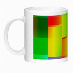 Colorful Gradient Shapes Night Luminous Mug by LalyLauraFLM