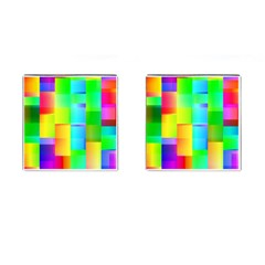 Colorful Gradient Shapes Cufflinks (square) by LalyLauraFLM