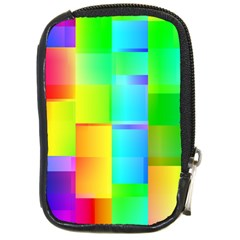 Colorful Gradient Shapes Compact Camera Leather Case by LalyLauraFLM