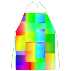 Colorful Gradient Shapes Full Print Apron by LalyLauraFLM