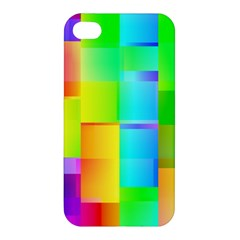 Colorful Gradient Shapes Apple Iphone 4/4s Hardshell Case by LalyLauraFLM
