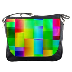 Colorful Gradient Shapes Messenger Bag by LalyLauraFLM
