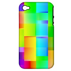 Colorful Gradient Shapes Apple Iphone 4/4s Hardshell Case (pc+silicone) by LalyLauraFLM