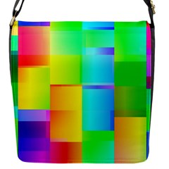 Colorful Gradient Shapes Flap Closure Messenger Bag (small) by LalyLauraFLM