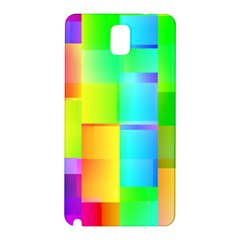 Colorful Gradient Shapes Samsung Galaxy Note 3 N9005 Hardshell Back Case by LalyLauraFLM