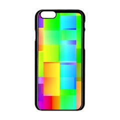 Colorful Gradient Shapes Apple Iphone 6 Black Enamel Case by LalyLauraFLM