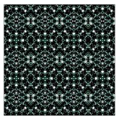 Futuristic Luxury Print Large Satin Scarf (Square)