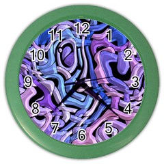 Metallic Weave Color Wall Clock by LalyLauraFLM