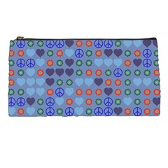Peace And Love Pencil Case by LalyLauraFLM